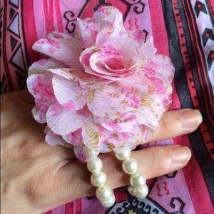 Jewelry - Fabric Flower Wrist Corsage